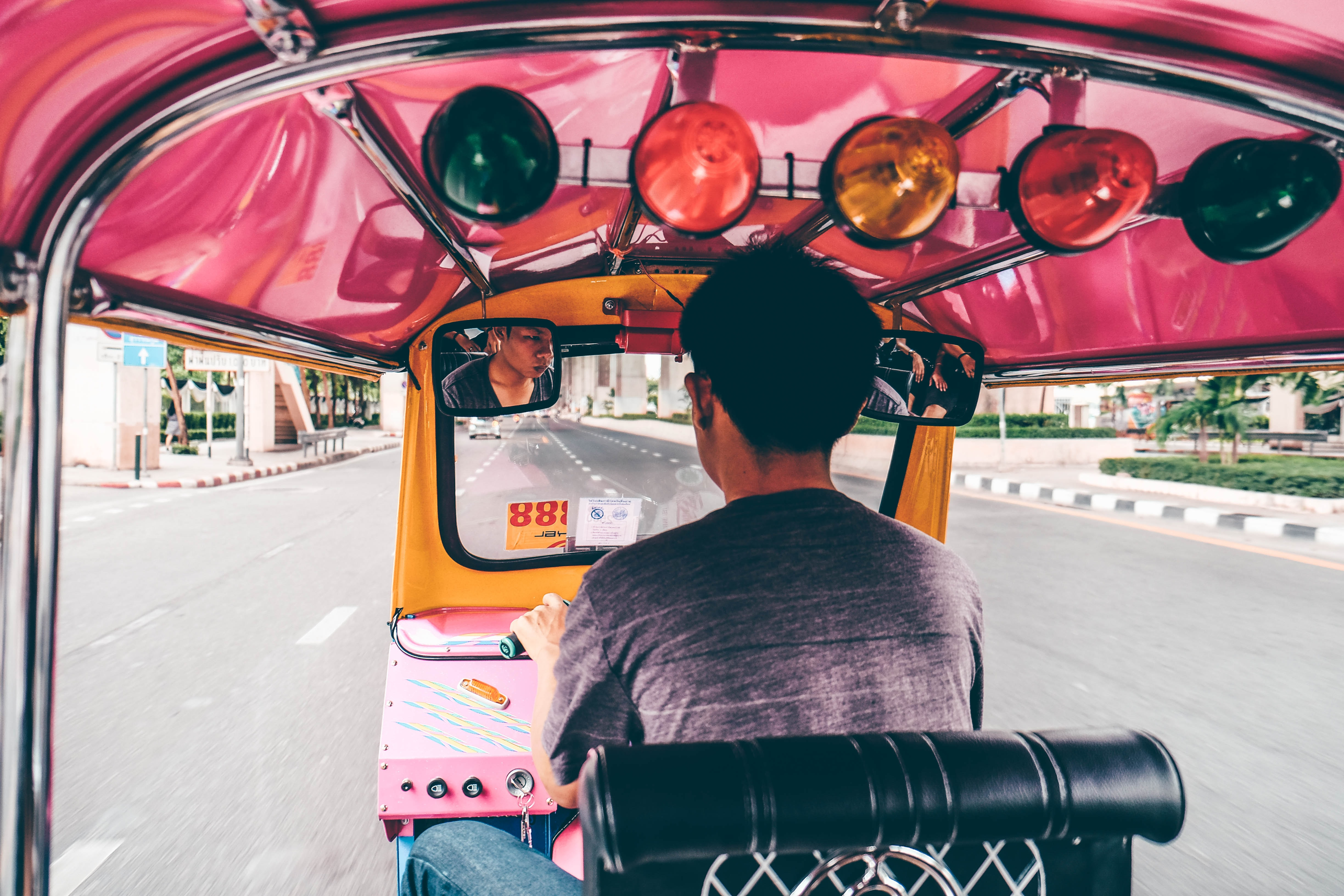 Pink Tuk Tuks Deliver Food - and Conversation - During Pandemic