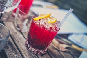 Cranberry juice with ice; image by Jez Timms, via Unsplash.com.