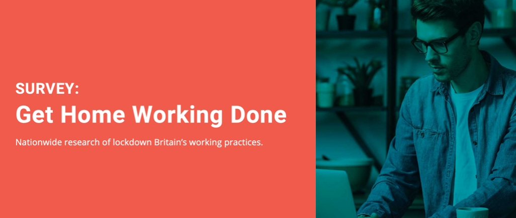 Get Home Working Done, a Nationwide Survey of Lockdown Britain's Working Practices; graphic courtesy of author.