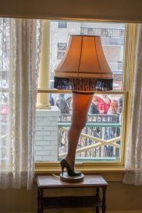The Leg Lamp from the movie A Christmas Story; image by Tim Evanson, via Flickr, CC BY-SA 2.0, no changes.