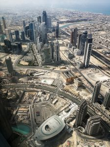 Burj Khalifa, Dubai, United Arab Emirates (125th floor); image by Arham Awan, via Unsplash.com.