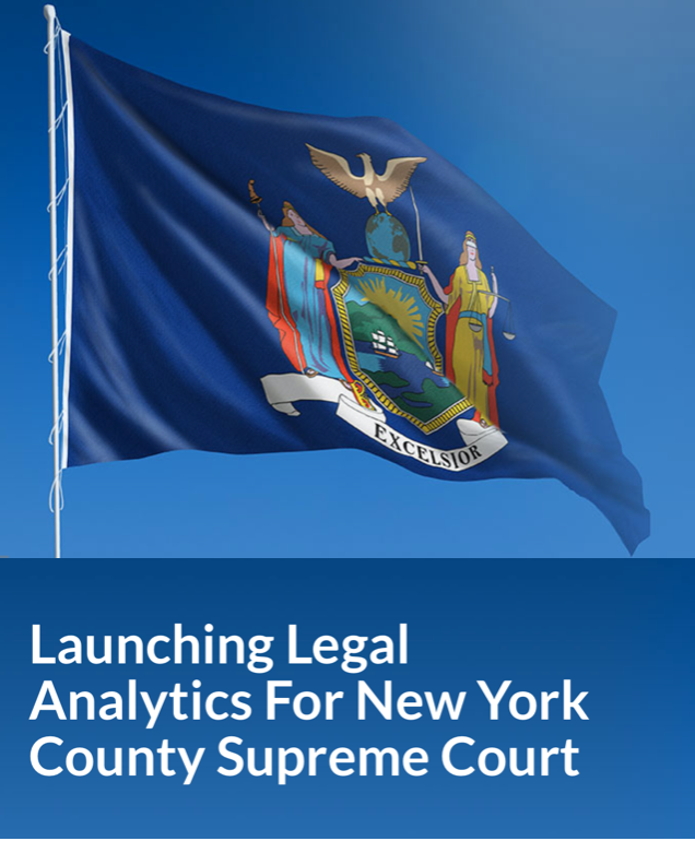 Launching legal analytics for New York County Supreme Court; courtesy Lex Machina.