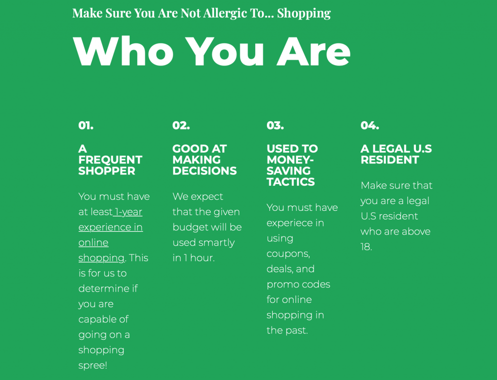 Who You Are graphic courtesy of Coupon Lawn.