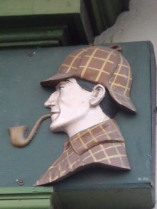 The Sherlock Holmes Museum at 221b Baker Street; image by Elliot Brown, via Flickr, CC BY 2.0, no changes.