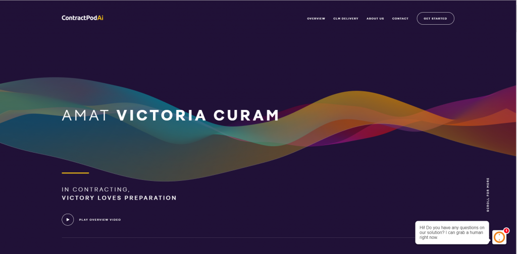 Amat Victoria Curam from ContractPodAi's website.