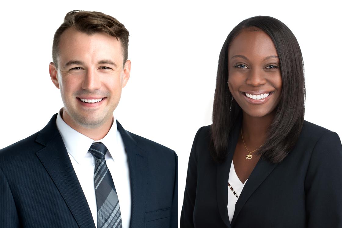 Shaun Austin and Amanda Groth; image courtesy of McKeen & Associates.