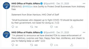 Screencap of a tweet by HHS.