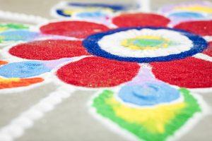 Diwali sand art; image by Jason Coudriet, via Unsplash.com.