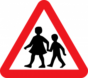 Children Crossing traffic sign