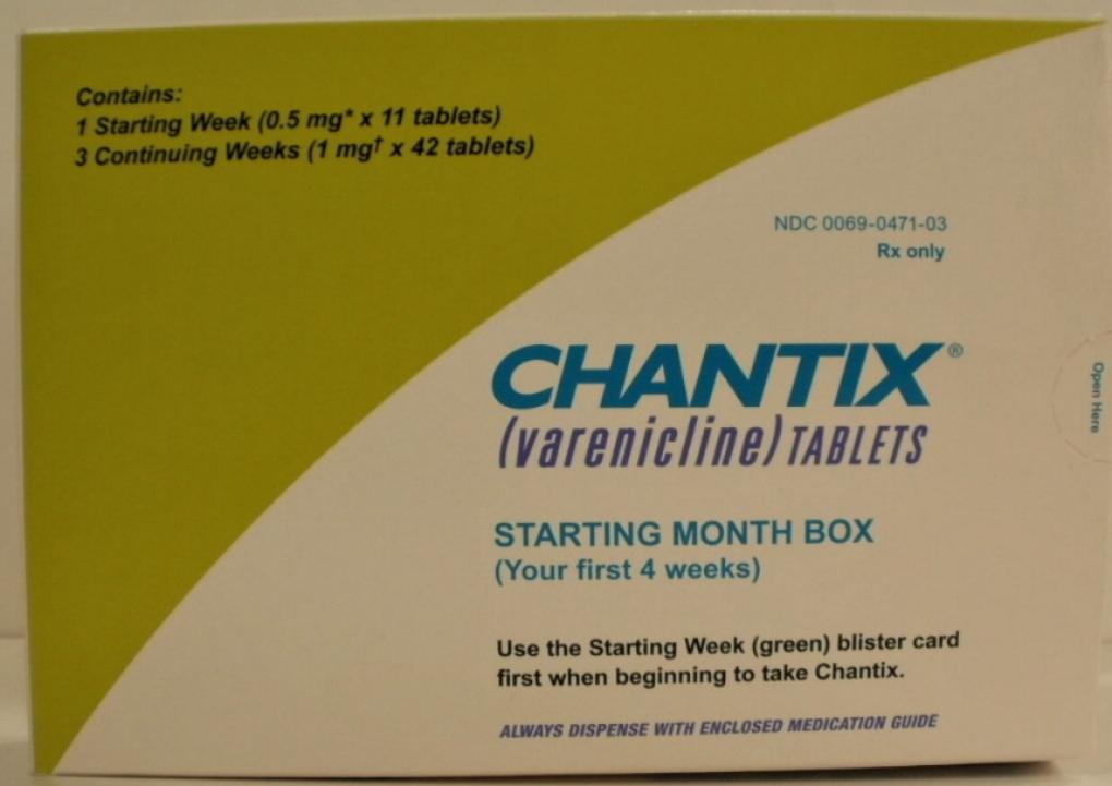 Recalled Chantix tablets