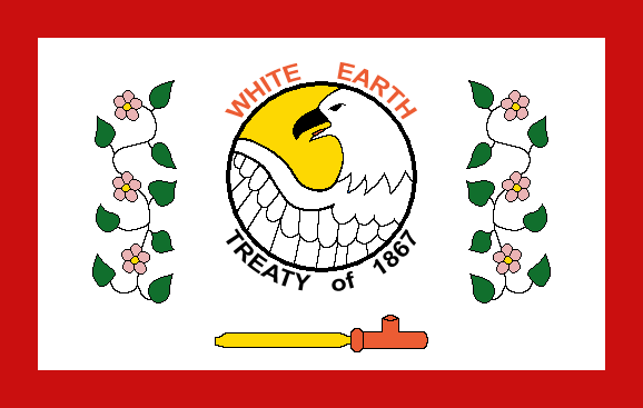 A central image of a bald eagle, flanked by a floral motif and a peace pipe, against a white background.