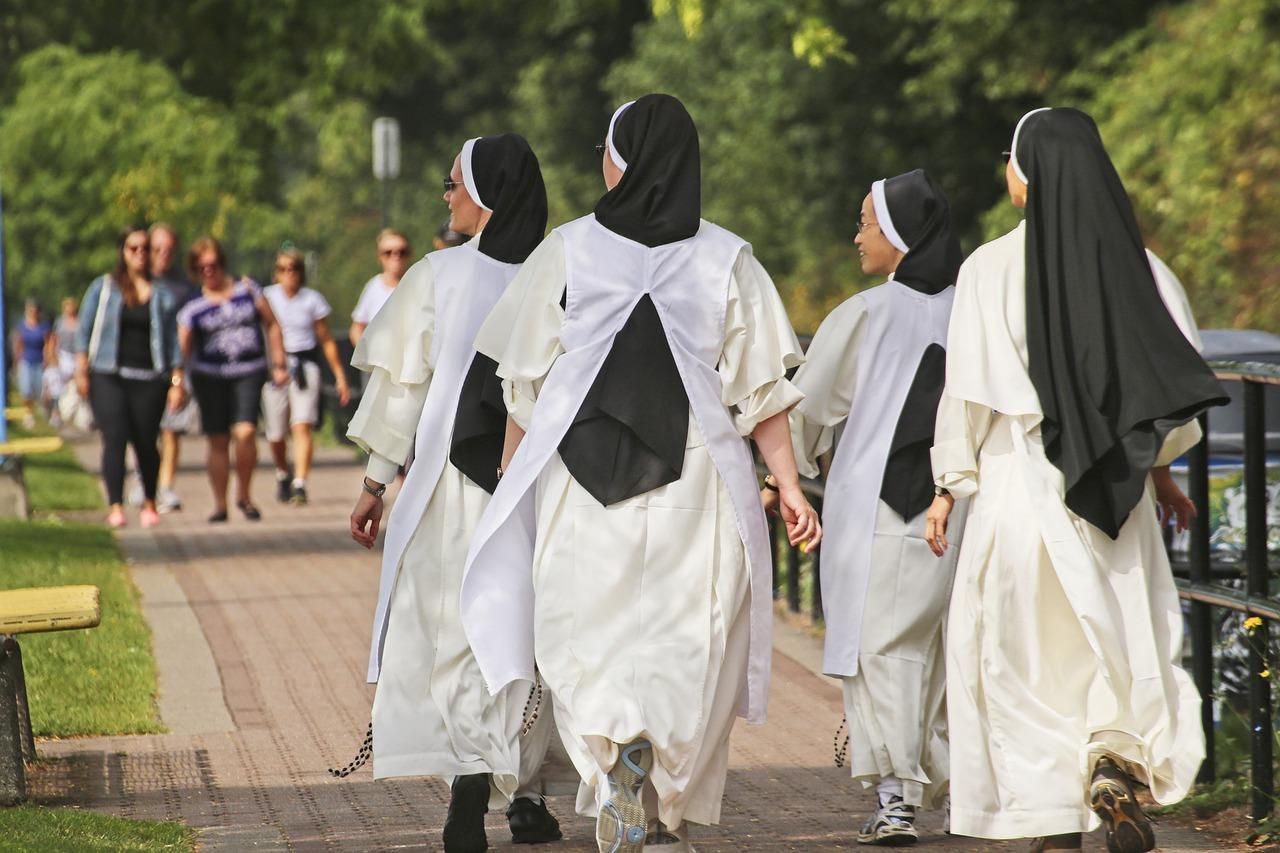 Catholic Nuns walking