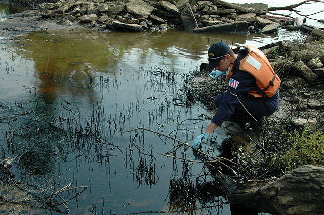 Coast Guard investigating oil spill