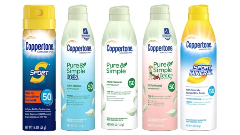 Recalled Coppertone Sunscreen